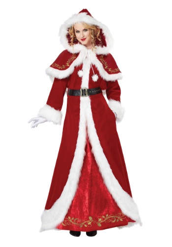 DELUXE CLASSIC MRS. SANTA CLAUS COSTUME ON RENT IN CHATTARPUR