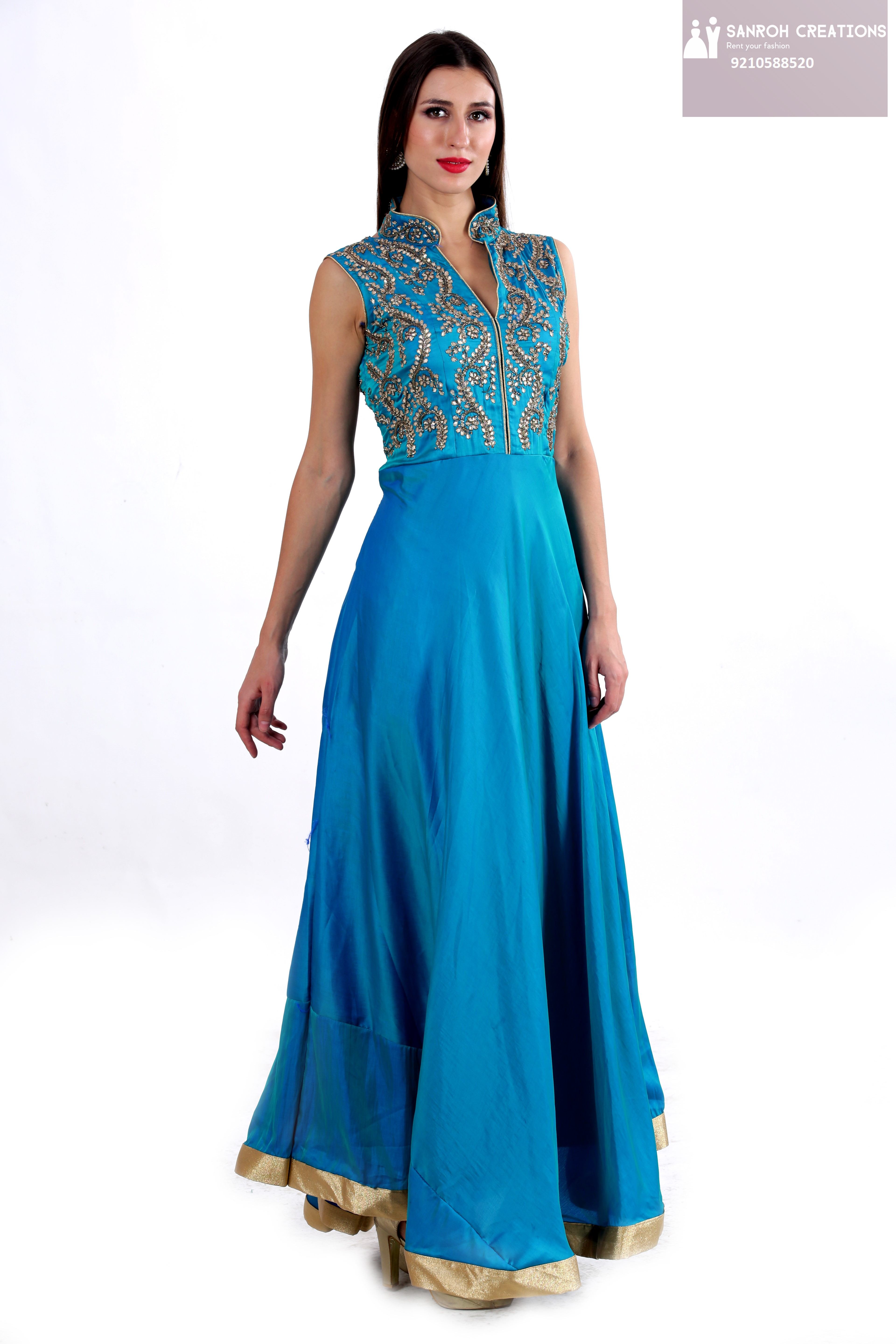 Royal Blue Gown on Rent in Gurgaon