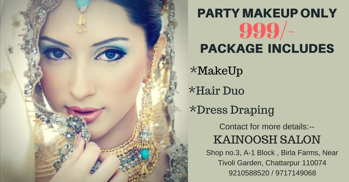 party Makeup  in chattarpur